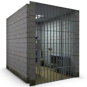 jail cell 3d c4d