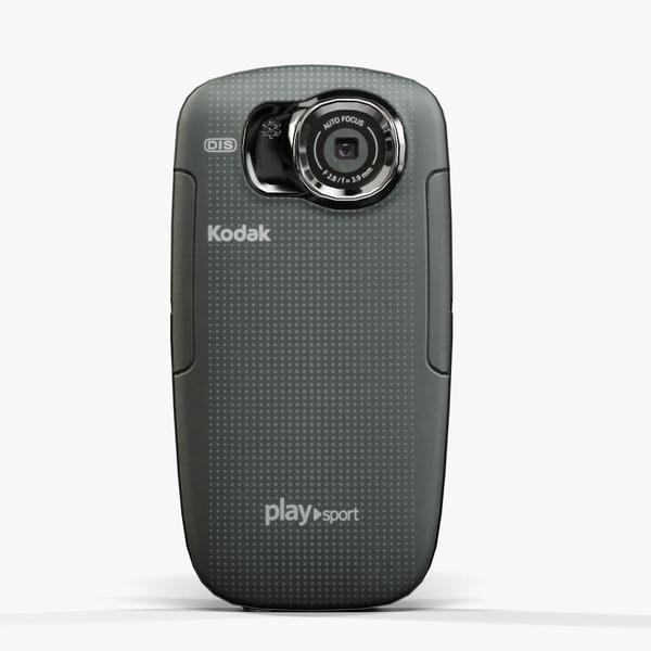 low-poly kodak playsport zx5 3d max