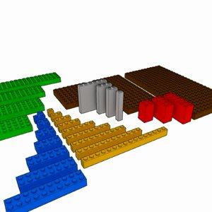 lego brick pack 3d 3ds