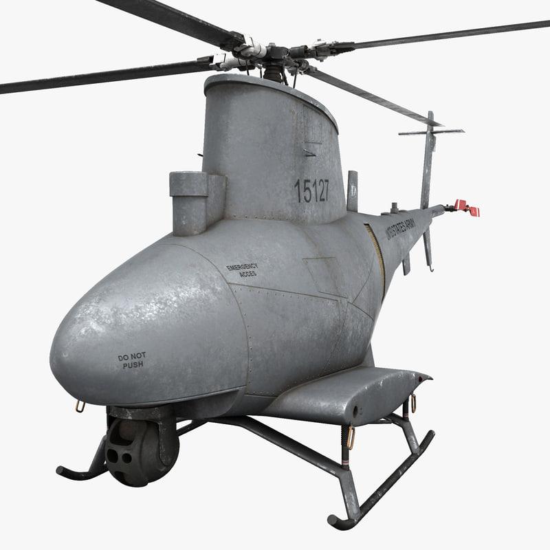 3d northrop grumman mq-8 scout