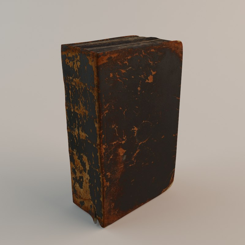 3d model old bible book