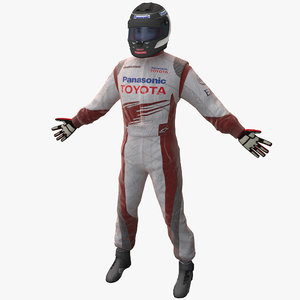 racing driver toyota rigged 3d model