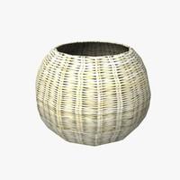 weave basket 3d fbx