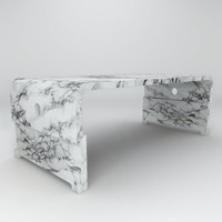 solid granite marble coffee table 3d model