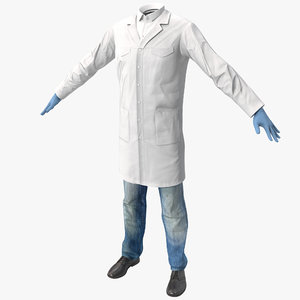 3d scientist clothes