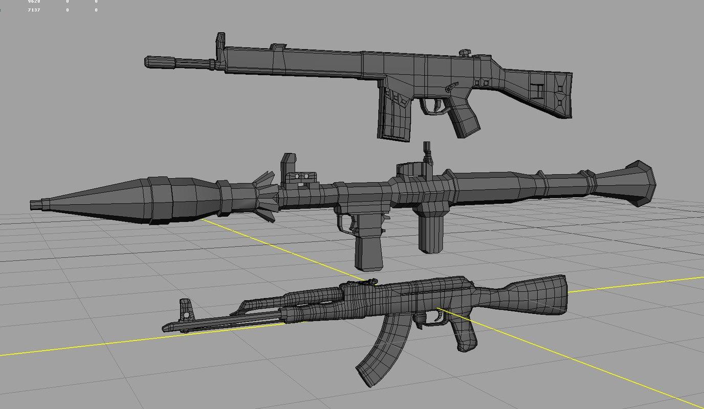 3d gun package model