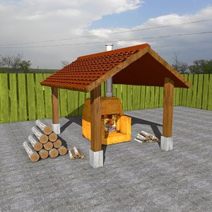 3ds max shed oven