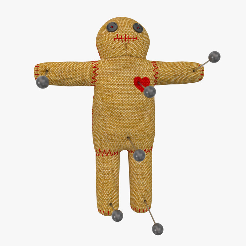 voodoo doll 3d model