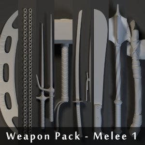 3dsmax weapons pack - melee