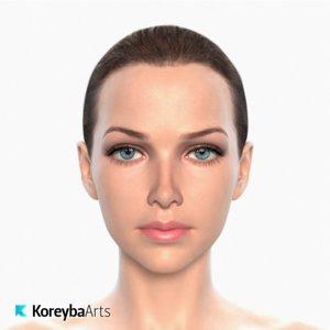max realistic female head