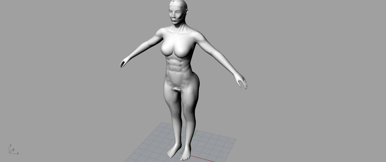 3ds max rigged women