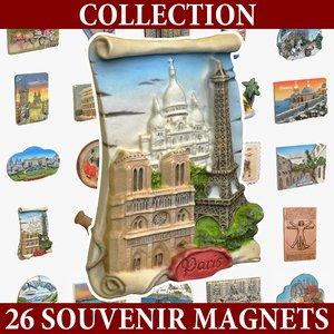 magnet souvenirs 3d model