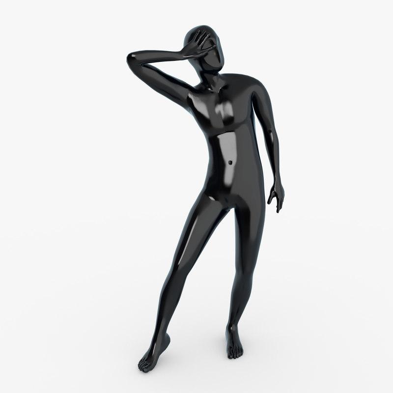 male mannequin 3d fbx