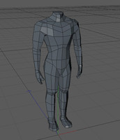 Low Poly Human Heroic Male Figure