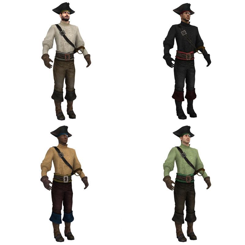 pack pirates 3d max
