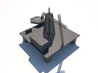 3d oil platform