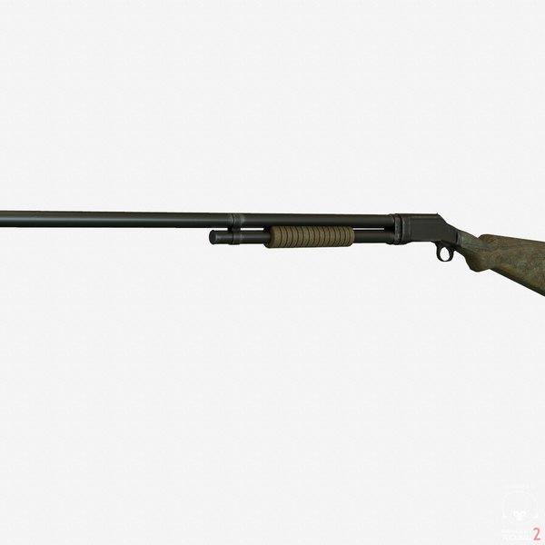 winchester shotgun gun engines 3d 3ds