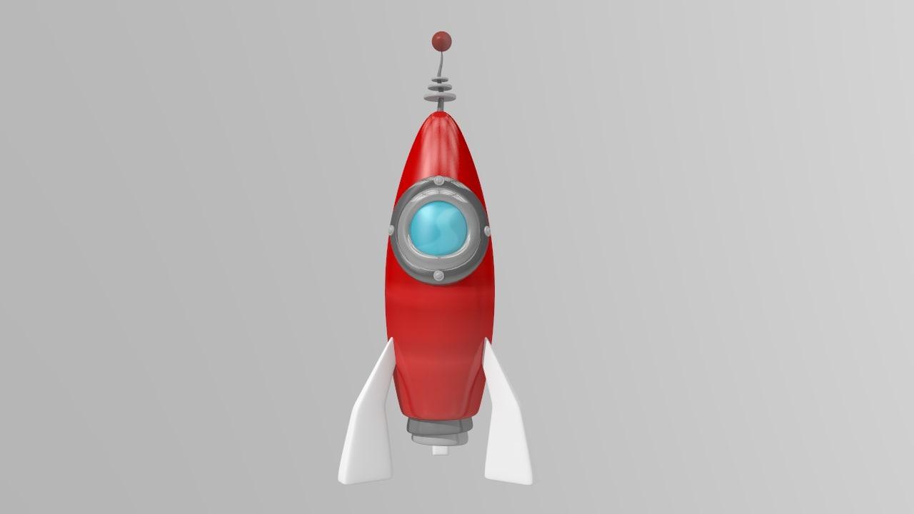 maya cartoon spaceship