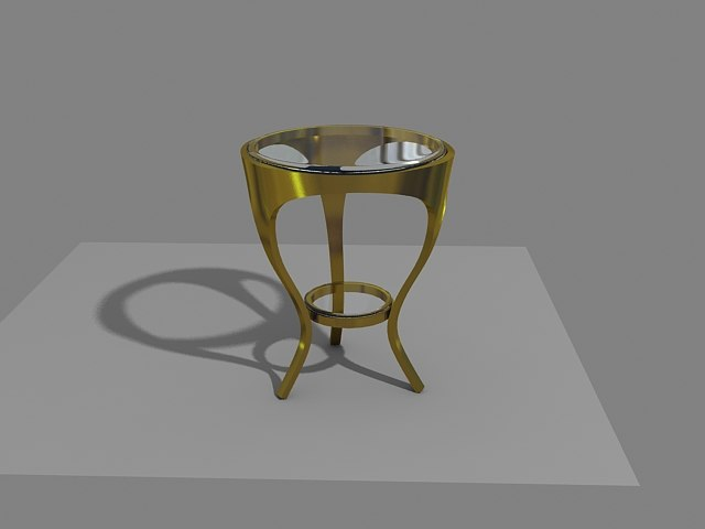3ds max table gold