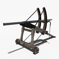 3d model of medieval bazooka
