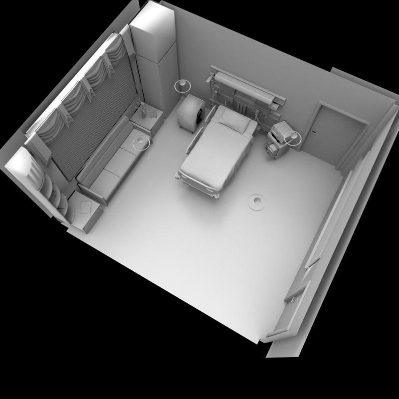 3d hospital room