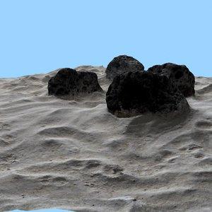 free 3ds model stone rock