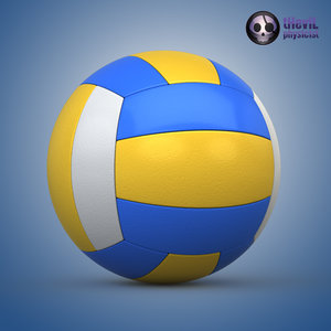 3d model volleyball ball volley