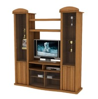 3d model wall unit classic design