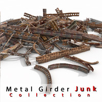 Metallic Rusty Girder Beams Rusty Junk Debris yard waste dump rubbish garbage disposal scrap iron scrapyard scrapheap various war junkyard
