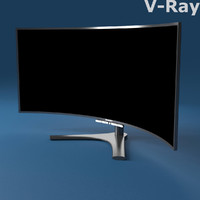 3d model of monitor pc