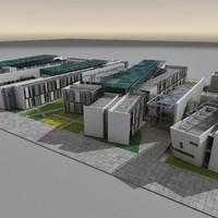 max modern futuristic architecture building