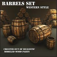 Barrels Set Western Style