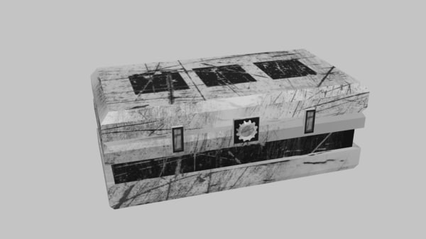 3d space chest model