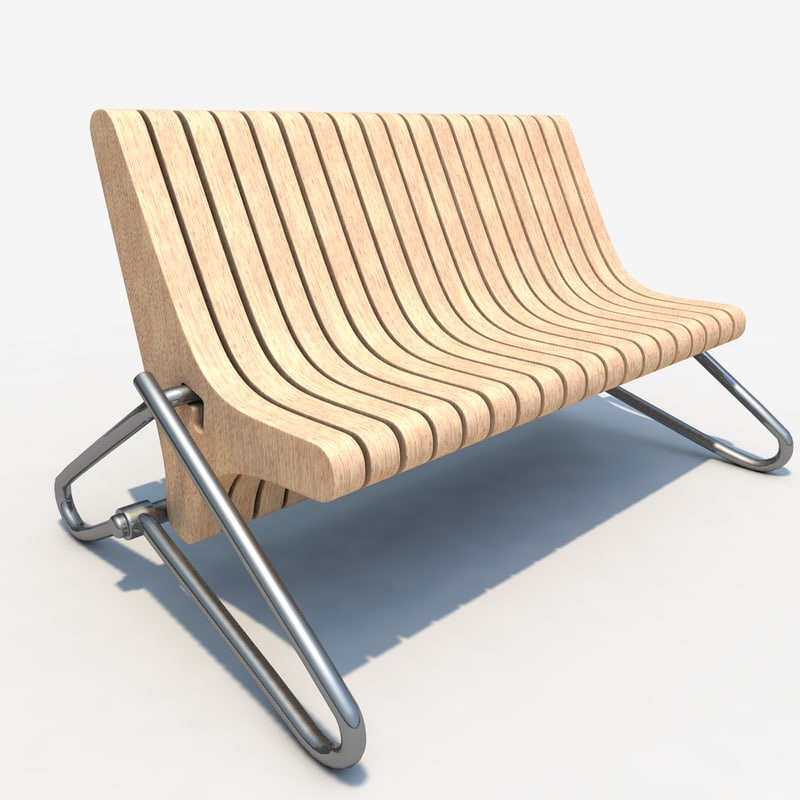 3d model bench style hi-tech