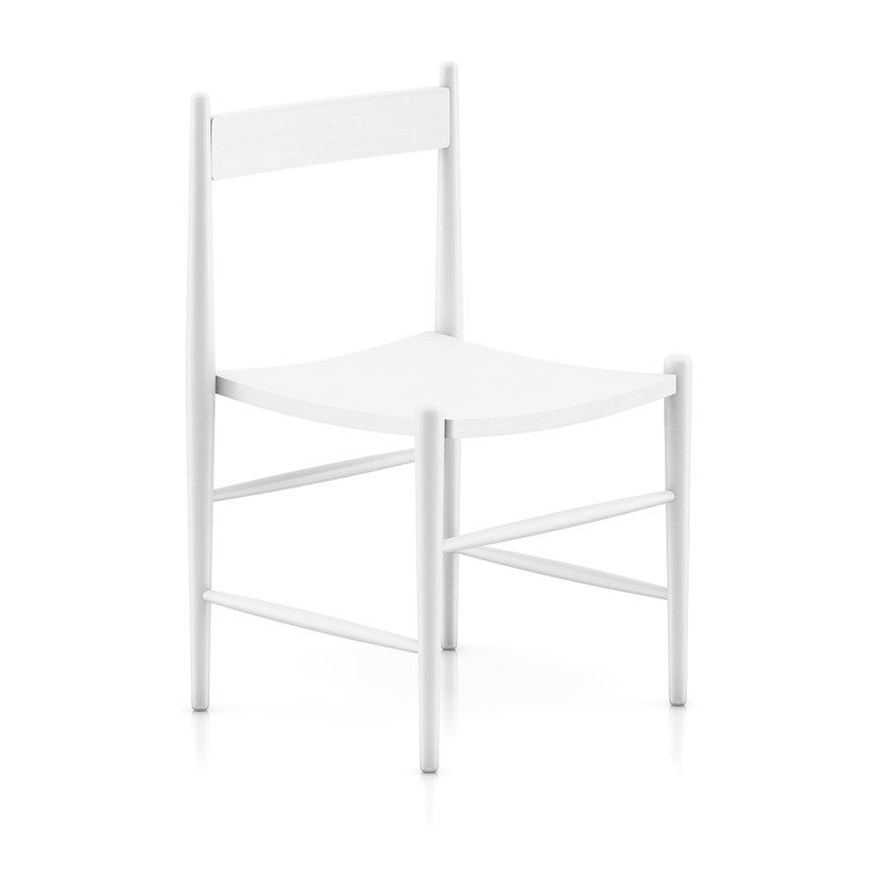 classic white wooden chair 3d model