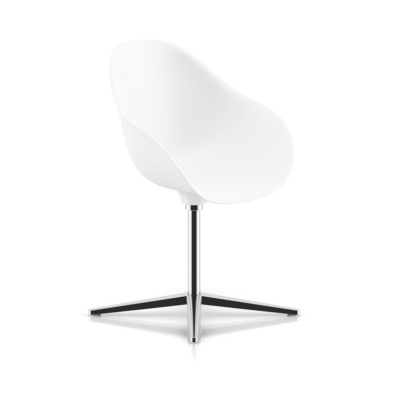 max white swivel chair