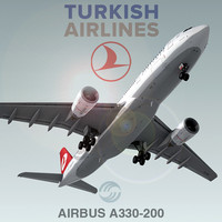 cinema4d airbus a330-200 turkish airlines