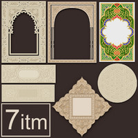 3d arabesque set 1 ceiling