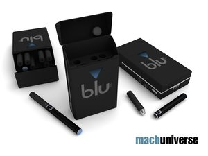 3d model of blu electronic cigarette pack