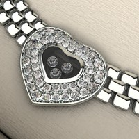 silver necklace 3d model