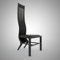 3d model arata isozaki marilyn chair wood