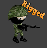 rigged games animation 3d obj