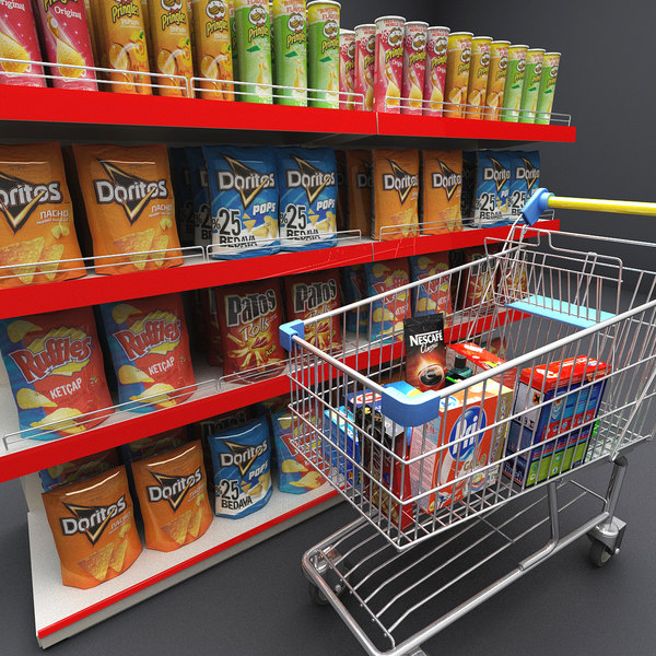 3d grocery elements model