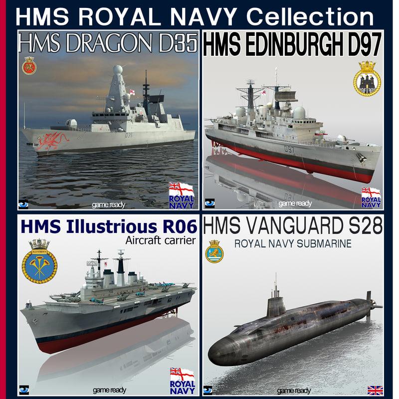 hms royal navy 3d 3ds
