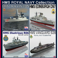hms royal navy 3d 3ds