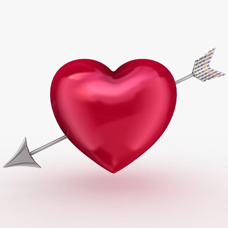 3dsmax heart arrow