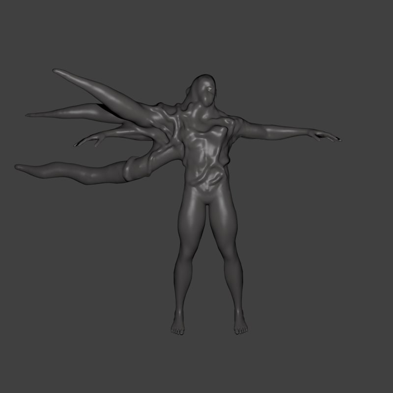 humanoid mutant 3d model