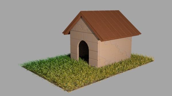 dog kennel doghouse 3d obj