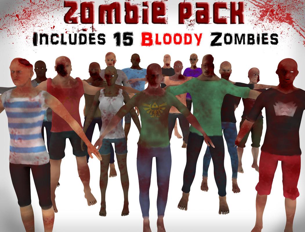 zombie pack 3d c4d