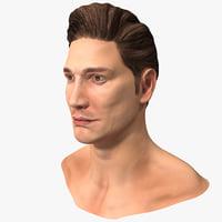 3d male head 15 model